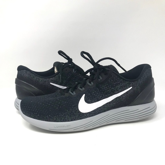 100% authentic 44fb8 f6318 Nike Men's Lunarglide 9 Black White Grey Size 10.5
